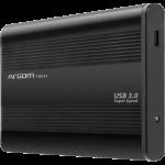 """Gabinete para Disco Duro 2.5"""" Argom SATA USB 3.0 Negro"""