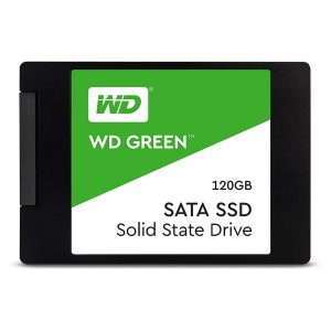 Unidad de Estado Solido de 120GB marca Western Digital Green SSD