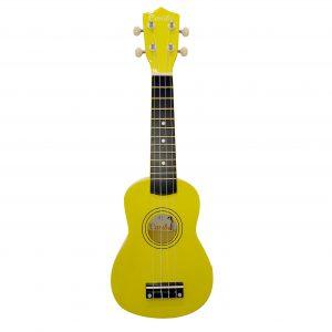 Ukulele Caribe 21″ Soprano Color Amarillo Con Estuche