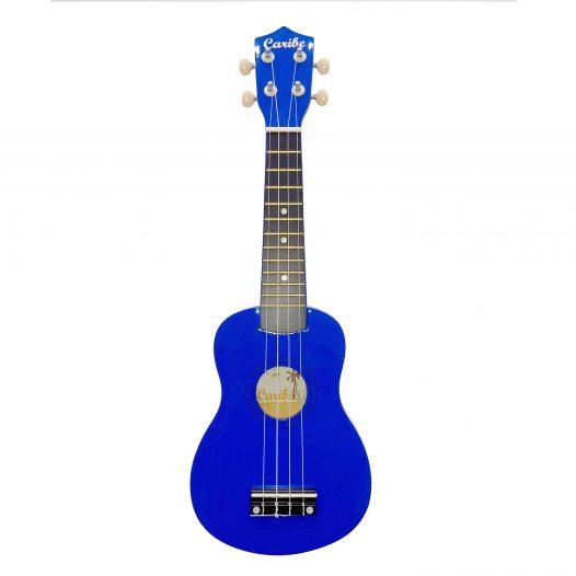 Ukulele Caribe 21″ Soprano Color Azul Con Estuche