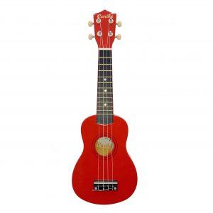 Ukulele Caribe 21″ Soprano Color Rojo Con Estuche