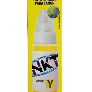 Botella de Tinta NKT de 70ML Para Canon Color Amarillo (Refill)