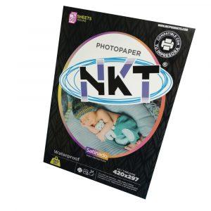 Papel Fotográfico NKT Satinado de 260 Gramos Tamaño Tabloide Paquete de 50 Hojas