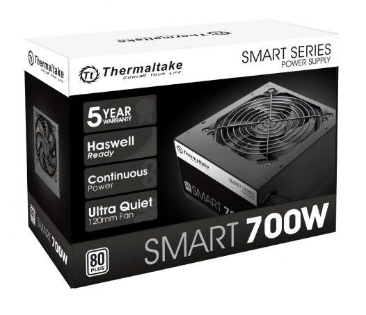 Fuente de Poder Thermaltake Smart de 700W 80 Plus White