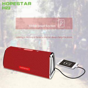 Bocina Bluetooth Hopestar H23 Color Rojo