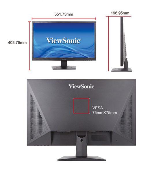 """Monitor ViewSonic 24"""" VA2407h"""
