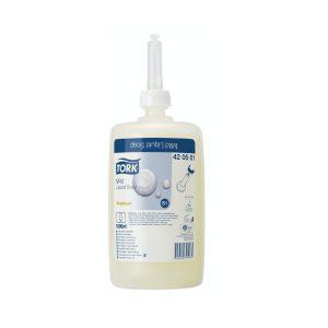 Jabón en Gel Premium para Manos marca Tork 1 Litro (Caja de 6 unidades)