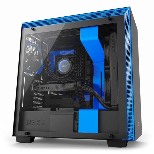 Case Gaming NZXT H700 Negro-Azul Matte ATX Sin Fuente