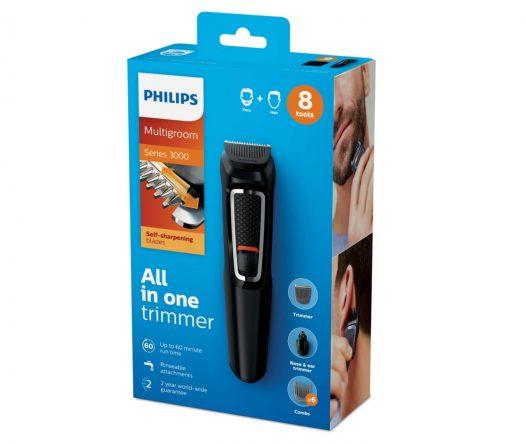 Recortadora 8 en 1 para Hombre marca Philips para Barba, Nariz, Orejas y CabelloMultigroom MG3730/15