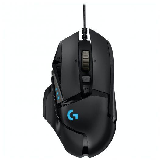 Mouse Gaming G502 Hero 16000 DPI marca Logitech color Negro