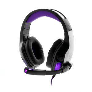 Audifonos Alámbricos Primus Gaming ARCUS 250S Color Gris y LED Morado