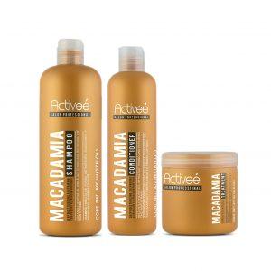 Combo profesional Essential Activee con aceite de macadamia