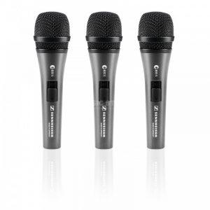 Micrófonos Sennheiser 3 pack -E835S