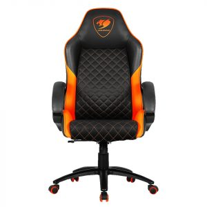 Cougar Silla gaming Fusion color negro con naranja