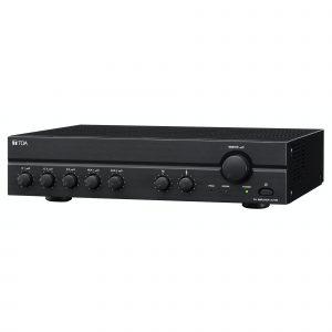 Amplificador de Instalación 60W y 5 Entradas (3 Mic, 2Aux) TOA A-2060L Color Negro