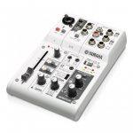 Mezcladora de 3 Canales con Interfaz de Audio USB - Marca Yamaha AG03 - Color Blanco