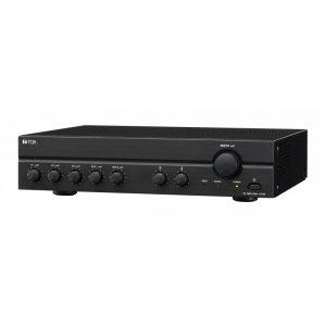 Amplificador de Instalación de 120W y 5 entradas (3 Mic, 2 Aux) TOA A-2120L Color Negro