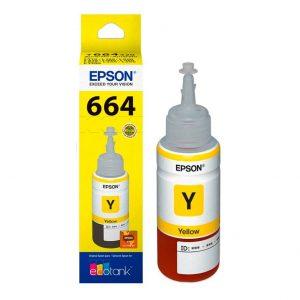 Botella de Tinta Epson T664 Amarillo (Refill)