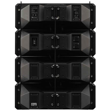 Sistema de Bocinas Tipo Line Array de 2 vías de 600W Program TOA HX-7B Color Negro