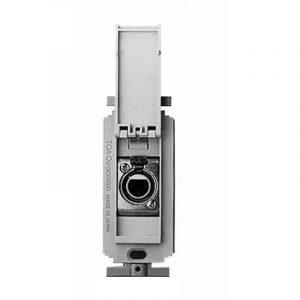 Conector de microfono para pared TOA YM-3CF color chromo con blanco