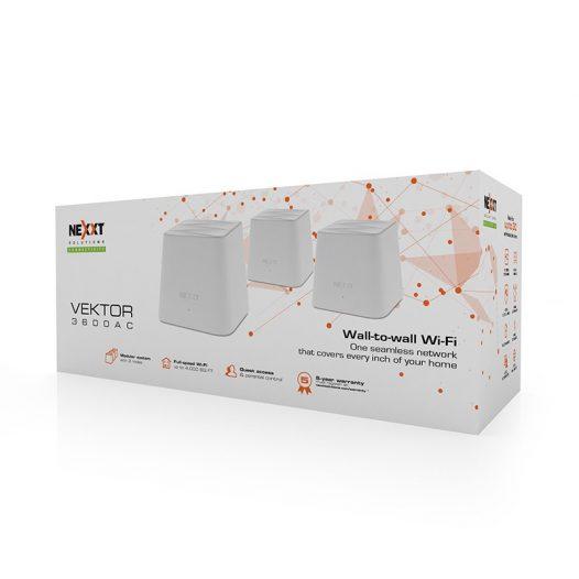 Sistema Extensor Inalámbrico Mesh marca Nexxt AC3600