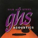 Set de Cuerdas para Guitarra Acústica de 12 cuerdas Silk and Steel ligeras Marca GHS