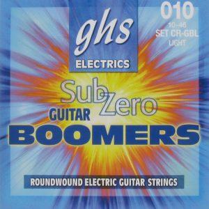 Set de Cuerdas para Guitarra Eléctrica Boomers Zub-Zero Ligera Marca GHS