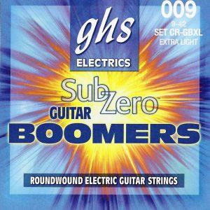 Set de Cuerdas para Guitarra Eléctrica Boomers Zub-Zero Extra Ligera Marca GHS