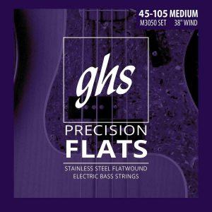Set de Cuerdas para Bajo de 4 cuerdas Flats Marca GHS