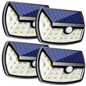 Reflector Solar de 28 LED con Sensor de Movimiento 4 Pack