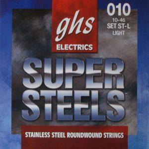 Set de Cuerdas para Guitarra Eléctrica Super Steels Ligera Marca GHS