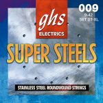 Set de Cuerdas para Guitarra Eléctrica Super Steels Extra Ligera Marca GHS