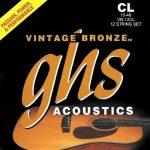 Set de Cuerdas para Guitarra Acústica de 12 cuerdas Vintage Bronze Marca GHS
