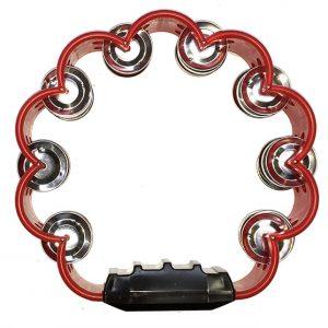 Pandereta Bocheli Diseño de Flor Color Rojo