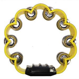 Pandereta Bocheli Diseño de Flor Color Amarillo