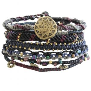 "Pulseras Wakami Earth 6.5-7"" Night 7 Strand WA0389-20"