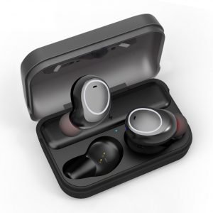 Audífonos Bluetooth True Wireless T3 con Estuche de Carga marca Awei color Gris