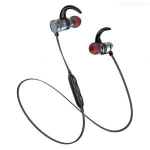 Audífonos Bluetooth Magnéticos AK4 marca Awei color Gris