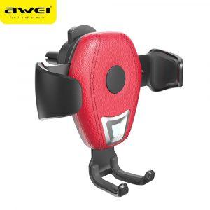 Cargador Inalámbrico con Soporte para Carro marca Awei de 10W modelo CW2