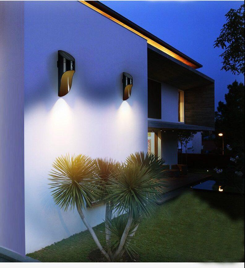 Lampara Solar Para Pared Con Sensor De Movimiento Color Blanco Kemik Guatemala