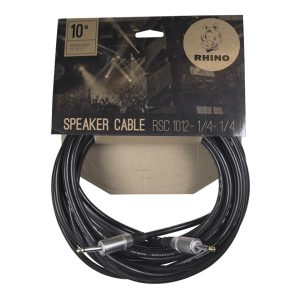 Cable para Bocina 1/4″-1/4″ de 10 Metros Color Negro Marca Rhino calibre 12