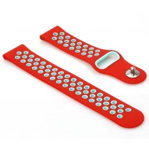 Pulsera de Silicón para Reloj Amazfit Bip Color Rojo con Celeste