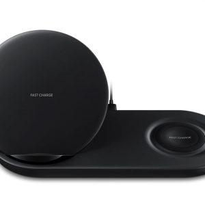 Cargador Inalambrico Wireless Charger Duo para Samsung color Negro