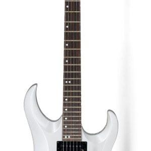 Guitarra Eléctrica Heavy Cort X6 Color Blanco con Funda