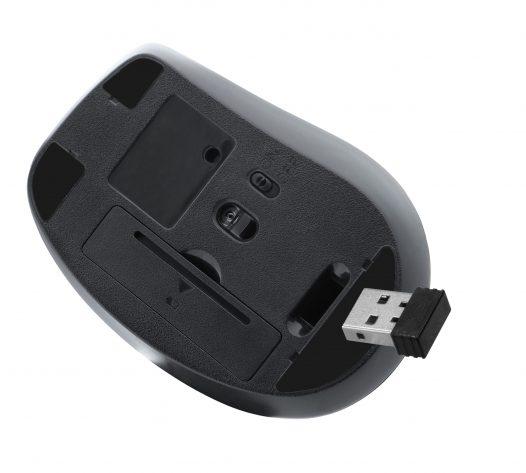 Mouse Inalambrico Ultraergonomico Semi Vertical marca Klip Xtreme color Negro