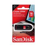 Memoria USB SanDisk Cruzer Glider de 16GB Color Negro con Rojo