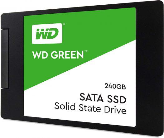 Unidad de Estado Solido de 240GB marca Western Digital Green SSD
