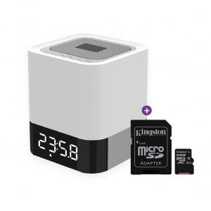 Combo de Bocina Bluetooth 5 en 1 Musky + Memoria Micro SD Kingston de 64GB Clase 10