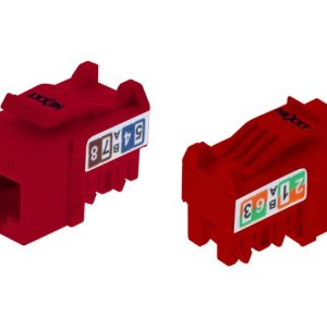 Módulo para Terminación RJ45 Categoría CAT 6 Tipo 110 Color Rojo Marca Nexxt