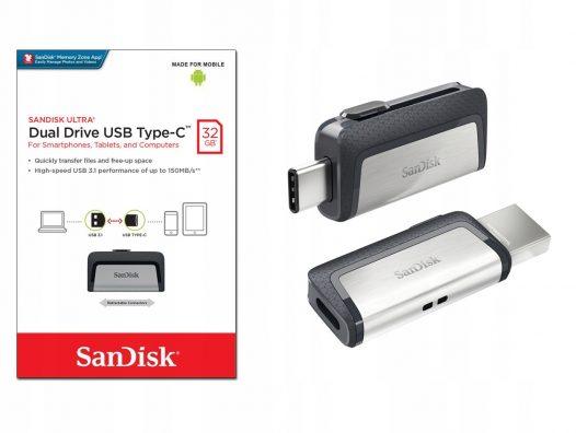 Memoria USB Ultra Dual Tipo C 32GB 3.1 SanDisk